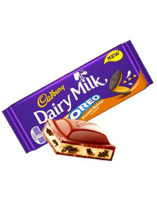 Chocolate Cadbury Milk Dairy relleno de Oreo de Mantequilla de Cacahuete