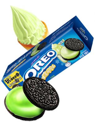 Oreo Crema de Helado de Matcha | Frozen Ice Cream