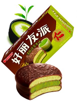 Choco Pie relleno de Crema de Te Verde | Happy Promise