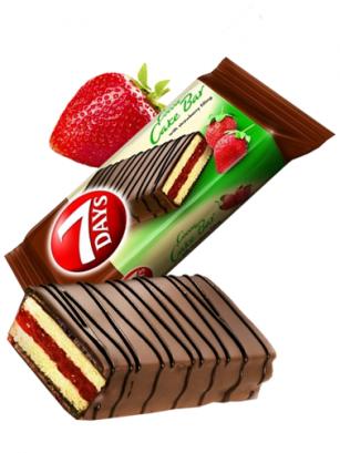 Pastelito de Chocolate y Mermelada de Fresas | Combini 7 Days 32 grs