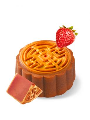Pastel de Luna relleno de Crema de Fresas 100 grs