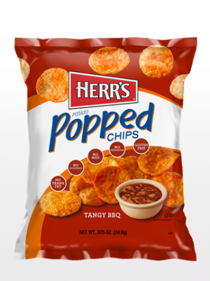 Popped Chips de salsa BBQ Picante Americana | Pocket Edit.