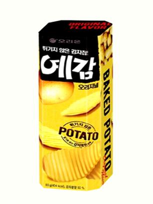Chips Onduladas Asadas al Horno | Orion Corea 80 grs