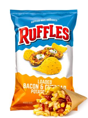 Patatas Ruffles Sabor Patata rellena de Bacon y Cheddar 184 grs