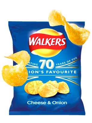 Patatas Fritas Walkers Lays Crema Queso y Cebolla 25 grs | Pedido GRATIS!