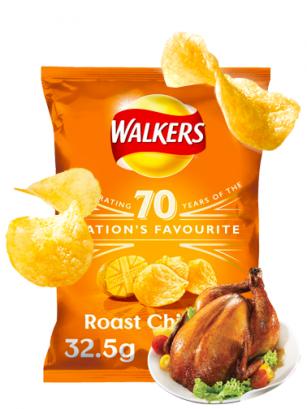 Patatas Fritas Walkers Lays Sabor Pollo Asado 32 grs