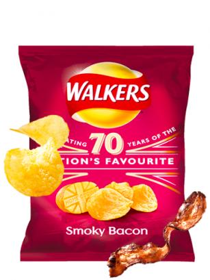 Patatas Fritas Walkers Lays Sabor Bacon Ahumado 50 grs