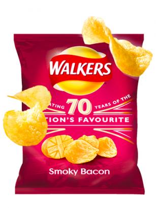 Patatas Fritas Walkers Lays Sabor Bacon Ahumado 32,5 grs