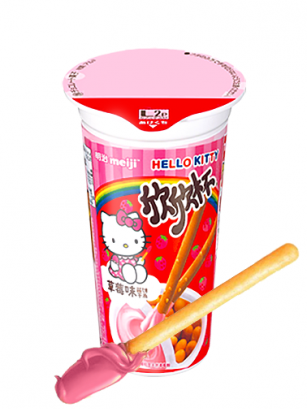 Meiji Sticks Cup Cream Ichigo | Hello Kitty