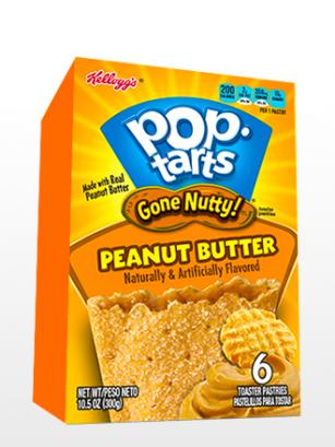 Pop Tarts de Crema de Cacahuete y Azúcar 300 grs