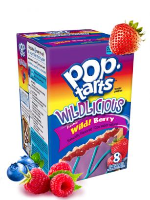 Pop Tarts Frosted de Fresa y Frambuesa Azul | 8 Unidades