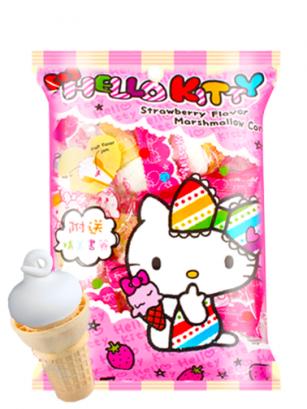 Surtido de Cucuruchos de Nubes de Fresa Hello Kitty