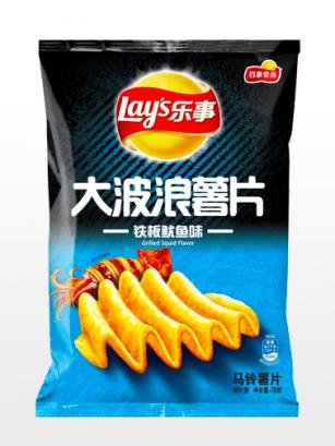 Patatas Lays Xtra Onduladas sabor Calamar a la Parrilla | Asia Recipe