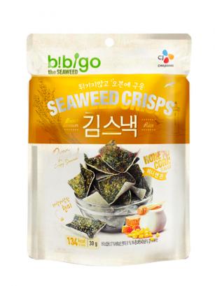 Snack Chips de Algas y Arroz Integral | Sabor Miel Maiz