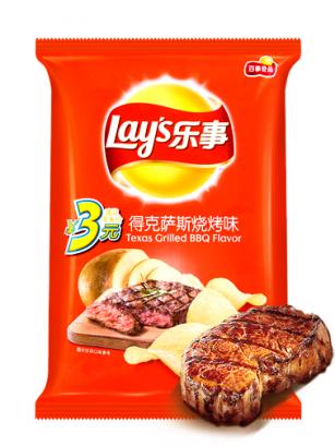 Patatas Lays Carne a la Parrilla BBQ Texas | Asia Recipe 70 grs