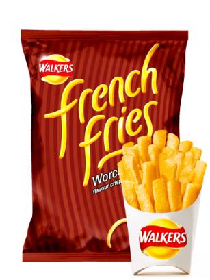 Patatas Fritas en Tiras Walkers Lays Sabor Salsa Worcester 21 grs