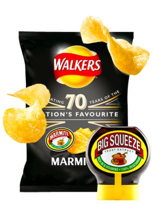 Patatas Fritas Walkers Lays Sabor Salsa Marmite 32,5 grs | Pedido GRATIS!
