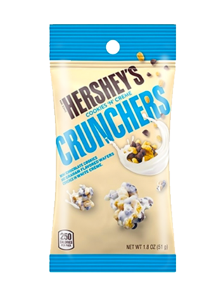 Crunches Chocolate Graham y Cookies Cream | Hersheys 51 grs
