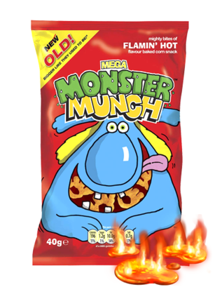 Snack Mega Monster Munch | Sabor Flamin Hot 40 grs | Pedido GRATIS!