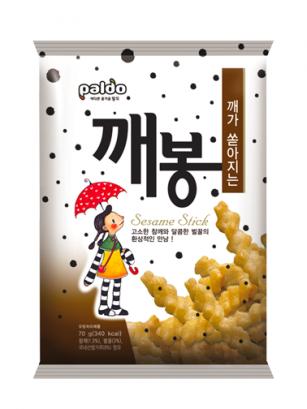Snack Coreano de sirope de Arroz Miel y Sesámo 70 grs