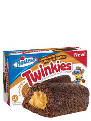 Pasteles Twinkies de Chocolate y Crema de Cacahuete | 10 Unidades