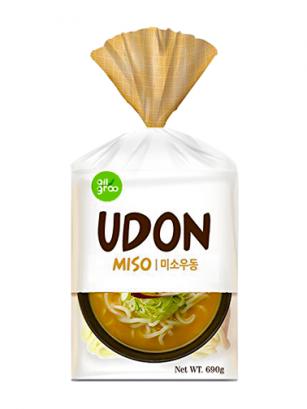 3 Raciones de Fideos Udon Coreanos con Miso y Tofu