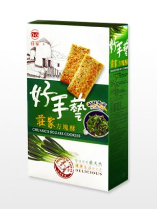Galletas Tradicionales de Cereales, Cebollino de Primavera y Mirin