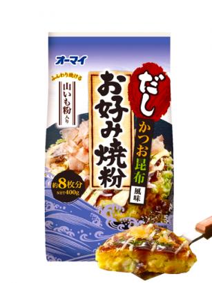 Harina Okonomiyaki Sabor Bonito Algas | Receta Okinawa 400 grs