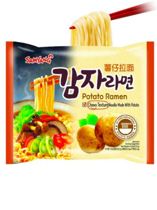 Fideos Ramen Coreanos de Patata, Carne y Verduras | Receta Samyang