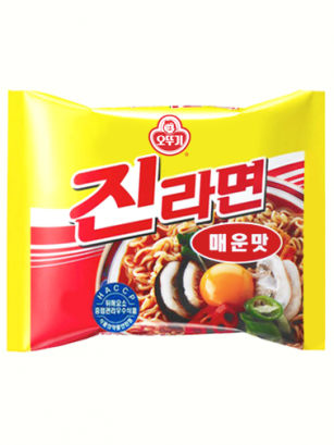 Fideos Ramen Coreanos Ramyun Jin Red de Carne | Picante