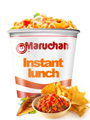 Ramen Maruchan Instant Lunch Cup, Pollo y Salsa Nachos | Nº1 Mundial