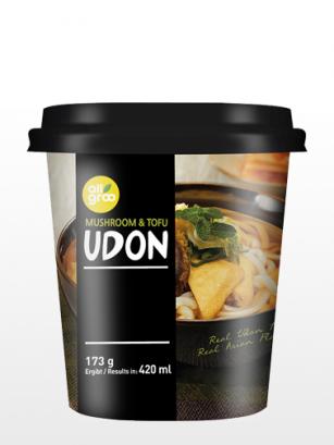 Fideos Udon Frescos Coreanos con Tofu y Setas | Cup Edition