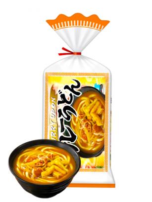 3 Raciones de Fideos Udon Curry Frescos