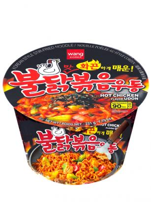 Fideos Udon Frescos Coreanos con Pollo   Ultra Picante 221 grs