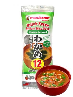 12 Raciones de Sopa instantánea de Miso Fresco y Wakame