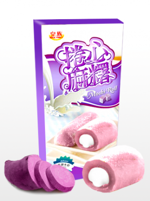 Mochis Cake Roll Cream Taro | Milky & Love