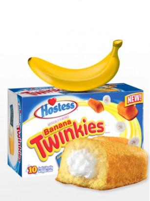 Pasteles Twinkies con relleno de Crema de Banana | 10 Unidades