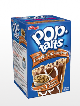 Pop Tarts Frosted de Masa de Cookies y Perlas de Chocolate