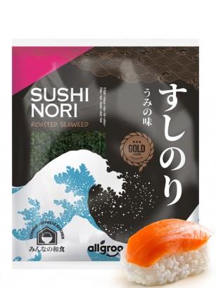 Alga Nori Coreana Premium Gold para Sushi | 10 hojas