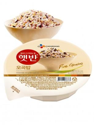 Arroz Blanco Coreano Cocido con 5 Granos | 1 Ración. | Pedido GRATIS!