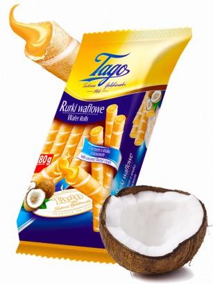 Barquillos Rellenos de Crema de Coco | Family Pack 280 grs.