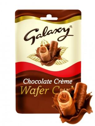 Barquillos Rolls Cubiertos y rellenos de Chocolate Galaxy 90 grs.