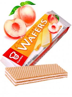 Wafers rellenas de Crema de Melocotón 200 grs