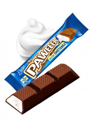 Chocolatina de Crema de Nata | Wedel Lotte 45 grs