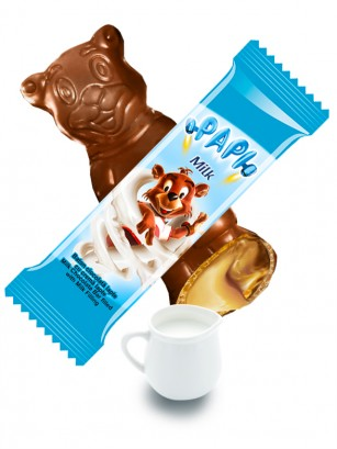 Chocolatina Osito con relleno de Leche 27 grs | Primola