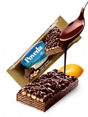 Barrita de Barquillo Chocolateada con Cacao y Cacahuetes 80 grs