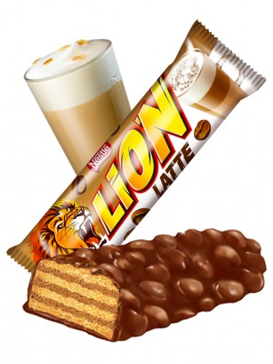 Barrita de Chocolate y Café Latte | Lion Nestle 40 grs