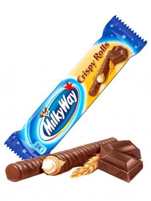 Barquillos rellenos de Crema Milky Way 25 grs