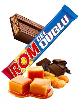 Barritas de Chocolate Rellenas de Caramelo, Crema de Ron y Cacahuetes 50 grs