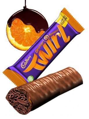 Doble Barrita de Chocolate Cadbury y Milhojas de Naranja | Twirl Edic. Limitada
